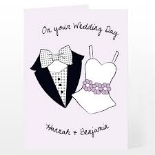 card for on wedding day personalised on your wedding day card