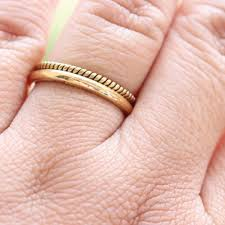 gold bands rings images Buy wedding band 18k yellow gold band ring stack rings online at jpg