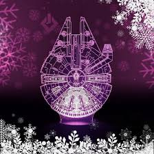 3d Lamps Amazon Amazon Com Easyinsmile 3d Led Night Light Star Wars Millennium