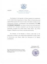 Sample Letter Of Intent To Join An Organization by Ghana Open Government Partnership
