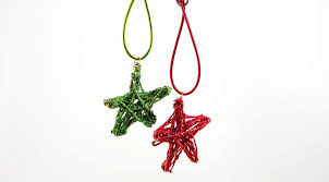 in july diy ornaments with wire and glitter
