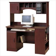 Cherry Wood Computer Desk With Hutch This Without The Hutch I That It Has A Bookcase On The Side