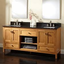Bamboo Bathroom Cabinet Bathroom Vanity With Shelf Dark Brown Bamboo Basket Round Small