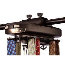wall mount gun hangers revolving tie rack organizer with light
