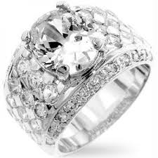 silver zirconia rings images Silver oval cubic zirconia ring size 10 jpg