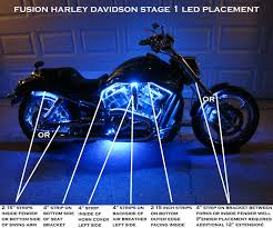 harley davidson lights accessories harley davidson fusion stage 1 21 color led kit fusion led systems