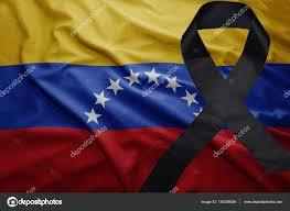 imagenes de venezuela en luto bandera de venezuela con el negro de la cinta de luto foto de