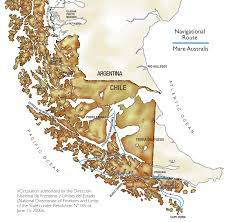 Patagonia Map Australis Cruise Expeditions Map Mare Australis And Via