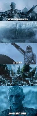White Walker Meme - a fitting ending to the white walkers freefolk