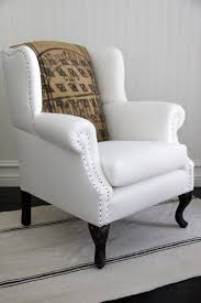 wingback chair linen and french jute omero home