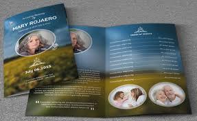 funeral programs free elegance funeral program v103 brochure templates creative market