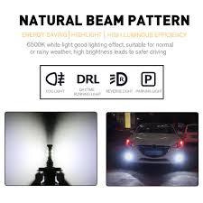 nissan leaf daytime running lights novsight 2x 25w h4 car led fog light bulbs driving lamp drl white