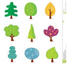 retro tree designs stock vector image of illustration 10306182