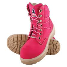 womens steel toe boots nz pink boots southern cross boots steel blue