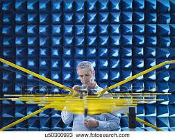 chambre sourde banque de photo scientifique préparer mesurer ondes