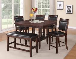 Kitchen Sets Furniture 6 Pc Counter Height Table Chair U0026 Bench Set Fulton By Crown