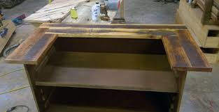 custom made reception desk hand made reception desk made from antique oak barn wood by
