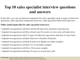 Lowes Resume Top 10 Sales Specialist Interview Questions And Answers 1 638 Jpg Cb U003d1504886828