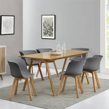 Esszimmertisch In Grau En Casa Esstisch Mit 6 Stühlen Bambus Grau 180x80 Küchentisch