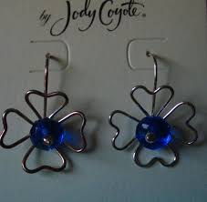 jody coyote earrings jody coyote earrings jc0564 new flower blue silver austrian
