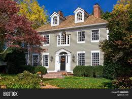 Colonial Revival Suburban Maryland Single Family House Home Georgian Colonial