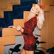 new years glitter dresses zara larsson rang in the new year in a sparkly dress glitter