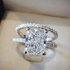 2ct engagement rings 2ct princess cut diamond solitaire bridal set engagement ring 14k