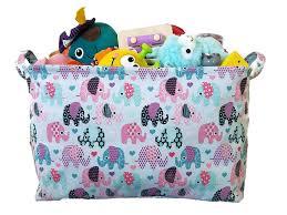 amazon com toy storage basket and canvas box organizer with