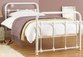 purity single white metal bed frame metal beds single