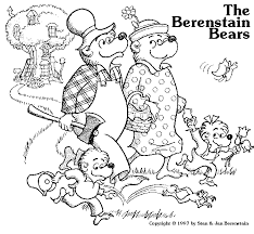 berenstain bears family colouring pages