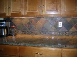 Backsplash Kitchens Kitchen Slate Tile Backsplash Kitchen Idea Slate Kitchen