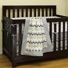 Grey Nursery Bedding Set Chevron Grey Crib Bedding Set By Sweet Kyla Style My Nursery