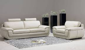 sofa white leather living room furniture small circle ottoman