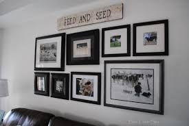How To Frame A Print Rustic Maple Rearranging The Gallery Wall In Our Living Room