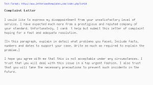 Complaints Letter To Hospital letter