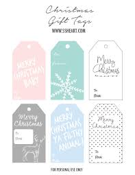 free printable christmas gift tags u2014 s s heart