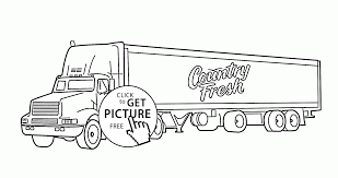 semi truck trailer coloring page for kids transportation coloring