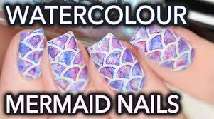 video nail tutorial easy watercolor mermaid nail art design