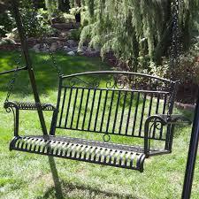 Lawn Swing Black Metal Porch Swing Stand