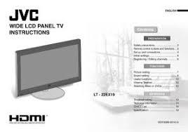 jvc hd 56g786 l lt 22ex19 jvc lcd flat panel screen tv television manual