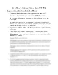 bio exam 2 study guide answers fall 2012 docx biology 1107 with