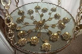hollywood regency swag l vintage hollywood regency hanging table l 1960s chandelier swag