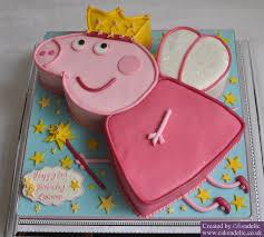 peppa pig birthday cakes peppa pig fairy princess birthday cake birthday cakes novelty cakes