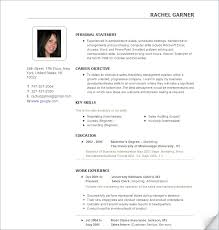 resume with photo template photo resume pertamini co