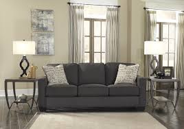 living room futuristic gray leather sofa for modern living room