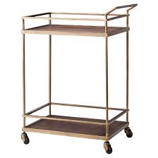 Is Brass Coming Back In Style 2017 Wood U0026 Brass Finish Bar Cart Threshold Target