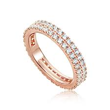 gold eternity rings big size women s rings 14k gold plated sterling silver