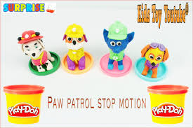 Peppa Pig Play Doh Paw Patrol Play Doh Stop Motion Claymation Peppa Pig Español Kinder