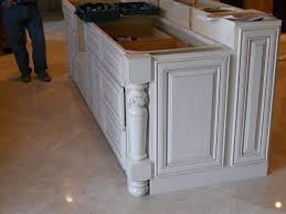 Decorative Kitchen Islands Working Side Of The Island Bar Raised End Panels And A