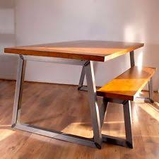 Dining Table And Bench Set EBay - Kitchen table and bench